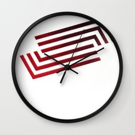 Spraypainted Angles Wall Clock