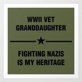 WWII Granddaughter Heritage Art Print