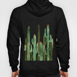 Cactus Four on Pink Hoody