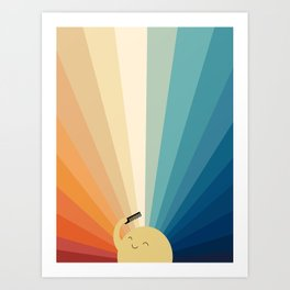 Sunshine will be ready in a minute Art Print