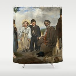 Edouard Manet The Old Musician 1862 Painting Shower Curtain