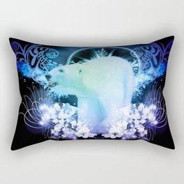 Awesome polar bear Rectangular Pillow