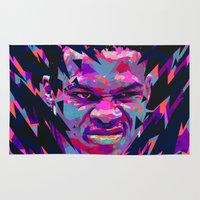 nba Area & Throw Rugs featuring RUSSELL WESTBROOK: NBA ILLUSTRATION V2 by mergedvisible