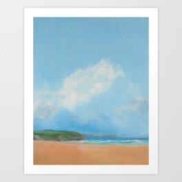 Art print - Beach and sky Art Print