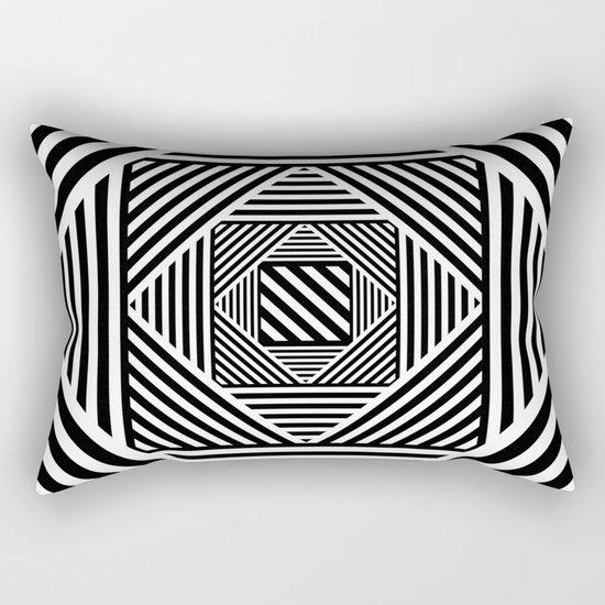 B&W Secret Passage Rectangular Pillow