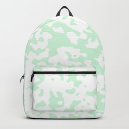 Spots - White and Pastel Green Backpack