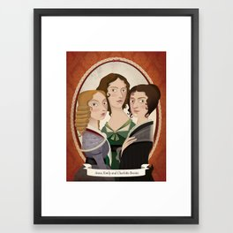 The Bronte sisters Framed Art Print