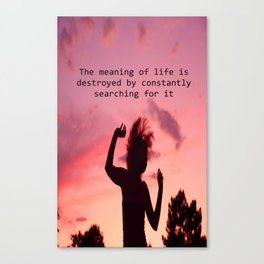 The meaning of life Canvas Print