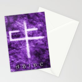 Abide Purple Stationery Cards
