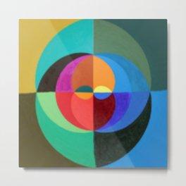 Circles Abstract art Metal Print