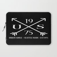 1975 Laptop Sleeves featuring US Arrow Logo by Urban Soule