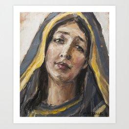 Beloved mother Art Print