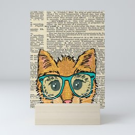 Orange Kitty Cat Mini Art Print