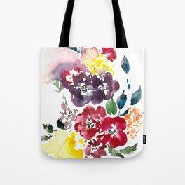 Vivid Asian Blooms Tote Bag