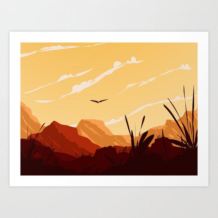 West Texas Landscape Kunstdrucke