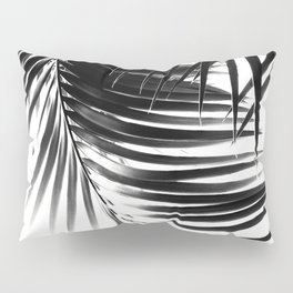 Palm Leaves Black & White Vibes #1 #tropical #decor #art #society6 Pillow Sham