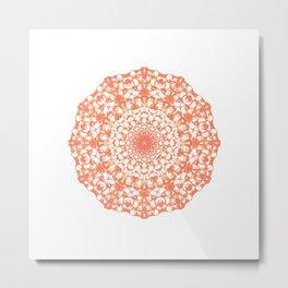 Mandala 12 / 4 eden spirit orange Metal Print