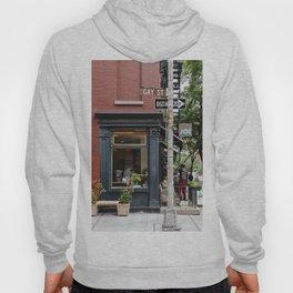 Picturesque restaurant in Greenwich Village, New York Hoody