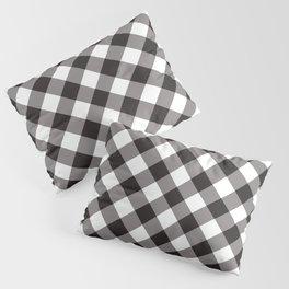Gingham - Black Pillow Sham