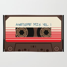 awesome mix vol 1 new hot 2018 CD love cute sticker cover iphone pattern casate art support design Rug