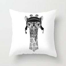 Giraffe Helmet Throw Pillow