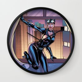 A night on the town - Catwoman Wall Clock