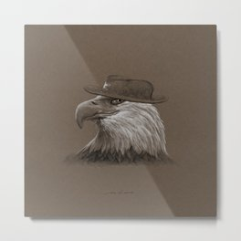 Eagle Sheriff Portrait Metal Print