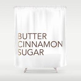 Cinnamon Recipe Typography Shower Curtain