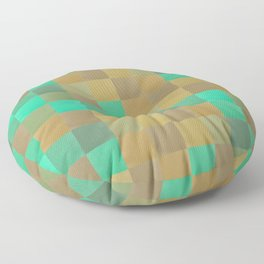 Zig-zag edged felt patchwork II Floor Pillow