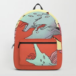 Smoke Cloud Wolves And Girl Backpack