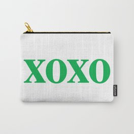 Green XOXO Carry-All Pouch