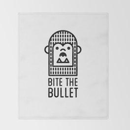 Bite the Bullet Throw Blanket