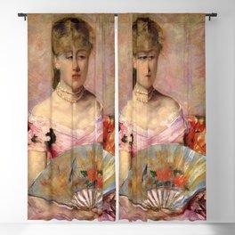 Cassatt Mary Lady with a Fan aka Portrait of Anne Charlotte Gaillard Blackout Curtain