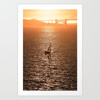 San Francisco Bay Sunset Art Print