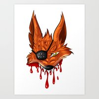 fnaf Art Prints featuring FNAF: Foxy the Pirate by Hide-N-Seek