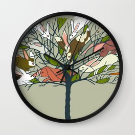 Bunnies in My Tree and more! Wall Clock