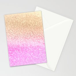 GOLD PINK II Stationery Cards