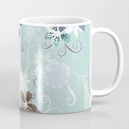 Summer blossom, blue and purple Coffee Mug