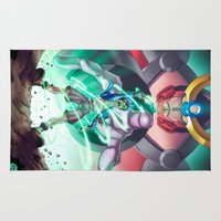 gundam Area & Throw Rugs featuring Gurren Lagann - This Drill will pierce the Heavens by Brian Hollins art