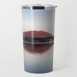 Sunset at lake Travel Mug