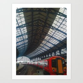 Brighton Train Station Art Print