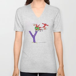 Y is for Yanma Unisex V-Neck