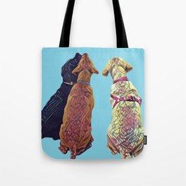 Three Amigos I in aqua Tote Bag