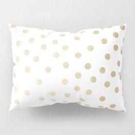 Stylish Gold Polka Dots Pillow Sham