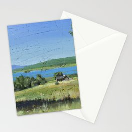 cabin - by phil art guy Stationery Cards