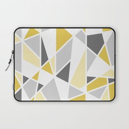 Geometric Pattern in yellow and gray Laptop Sleeve