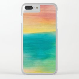 Ocean Sunset Series, 3 Clear iPhone Case