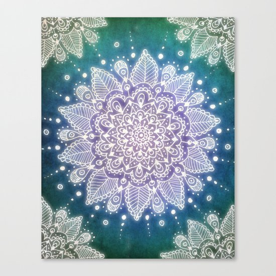 Peacock Mandala Canvas Print