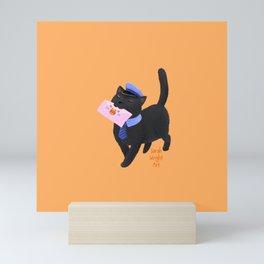 Mail Cat Mini Art Print