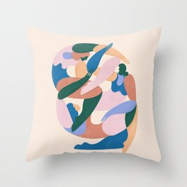 Sisterhood (colorblock) Throw Pillow